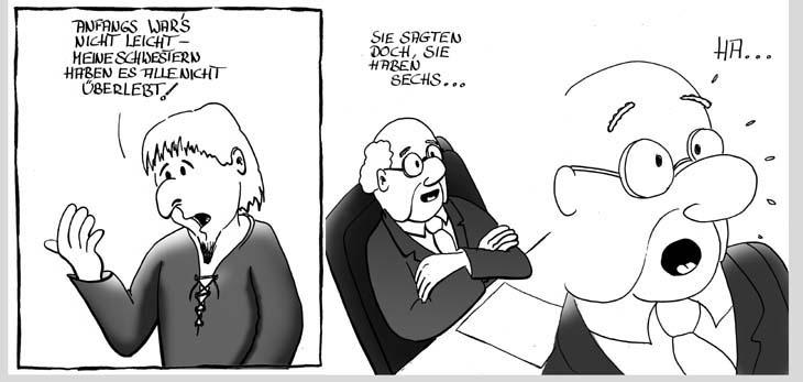Bildgeschichte zauberer cartoon über berufe