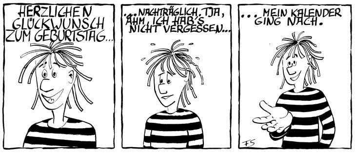 Geburtstag Comic Der Richtige Spruch Cartoon