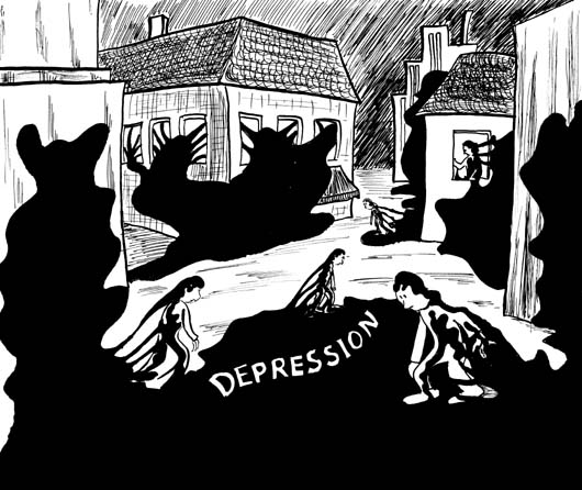 Depression - Bild der Depression