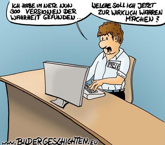Im zeitalter des internets der journalismus karikatur presse