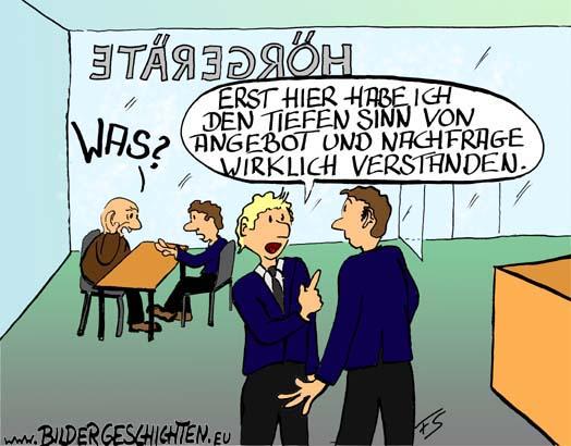 Hörgeräte Angebot Und Nachfrage Cartoon