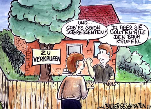 Immobilien Kaufen Cartoon