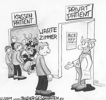 Karikatur Und Satire Privat Versichert