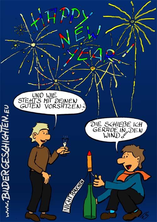 Cartoon zu Neujahr
