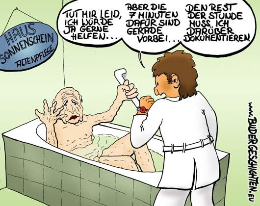 Cartoon pflegeberufe karikatur