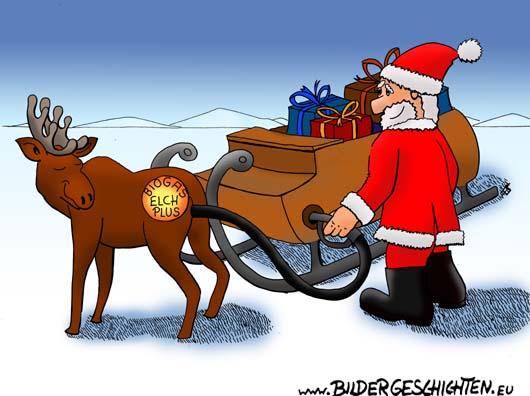 Weihnachtsmann Cartoon Und Witz