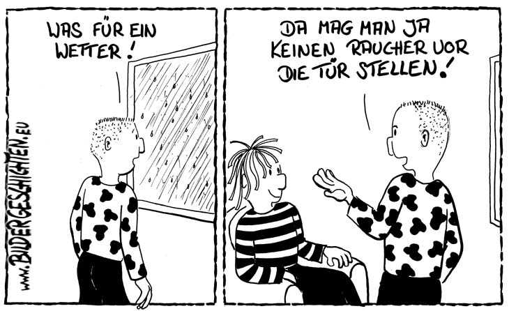 Wetter - Comic-Cartoon